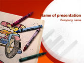 Education & Training: Colored Crayons PowerPoint Template #02423