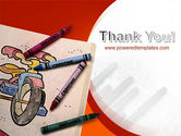 Colored Crayons PowerPoint Template#20