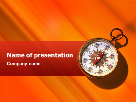 Pocket Compass PowerPoint Template, 02424, Global — PoweredTemplate.com
