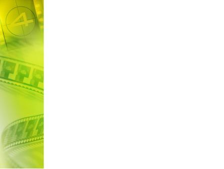 Film Strip In Light Yellow Green Colors PowerPoint Template, Slide 3, 02426, Art & Entertainment — PoweredTemplate.com