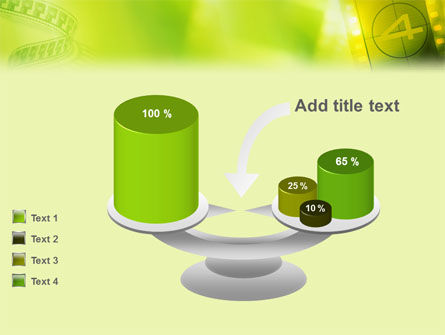 Film Strip In Light Yellow Green Colors PowerPoint Template Slide 10