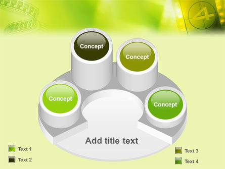 Film Strip In Light Yellow Green Colors PowerPoint Template Slide 12