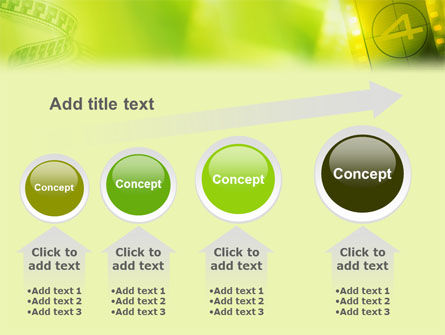 Film Strip In Light Yellow Green Colors PowerPoint Template Slide 13