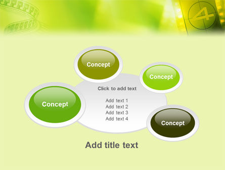 Film Strip In Light Yellow Green Colors PowerPoint Template Slide 16