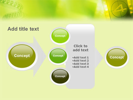 Film Strip In Light Yellow Green Colors PowerPoint Template Slide 17