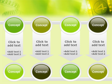 Film Strip In Light Yellow Green Colors PowerPoint Template Slide 18