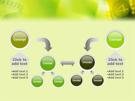 Film Strip In Light Yellow Green Colors PowerPoint Template Slide 19
