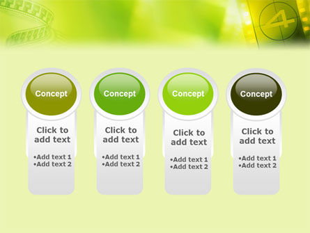 Film Strip In Light Yellow Green Colors PowerPoint Template Slide 5