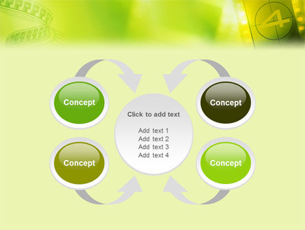 Film Strip In Light Yellow Green Colors PowerPoint Template Slide 6