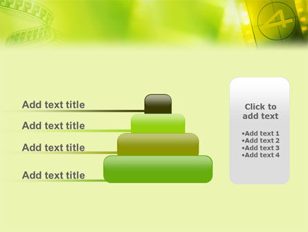 Film Strip In Light Yellow Green Colors PowerPoint Template Slide 8