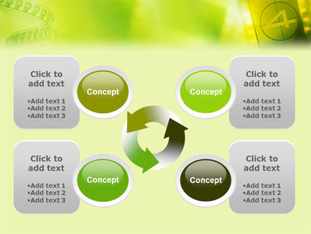 Film Strip In Light Yellow Green Colors PowerPoint Template Slide 9