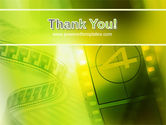 Film Strip In Light Yellow Green Colors PowerPoint Template#20