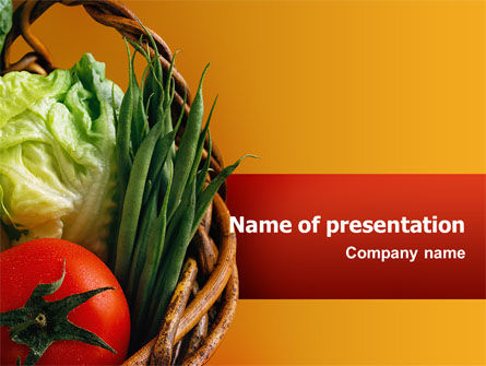 Grocery PowerPoint Template, 02427, Food & Beverage — PoweredTemplate.com
