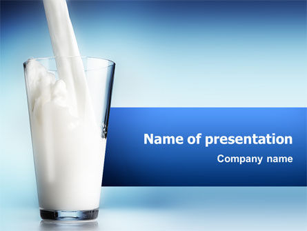 Food & Beverage: Glass Full Of Milk PowerPoint Template #02429