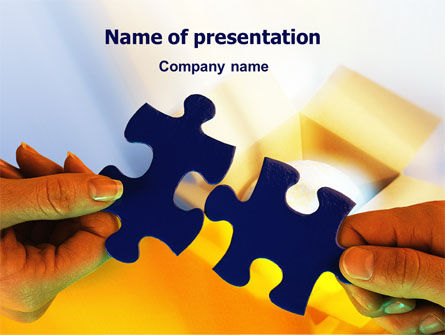Business Concepts: Pieces of Puzzle PowerPoint Template #02430