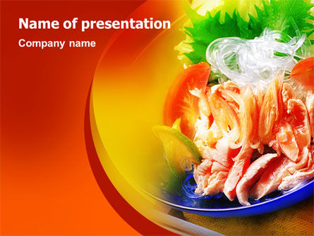 Exotic Food Restaurant Menu Powerpoint Template, Backgrounds