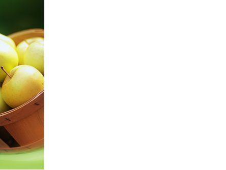 Basket of Apples PowerPoint Template, Slide 3, 02432, Food & Beverage — PoweredTemplate.com