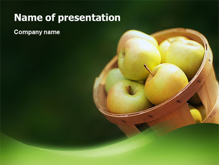 Food & Beverage: Basket of Apples PowerPoint Template #02432