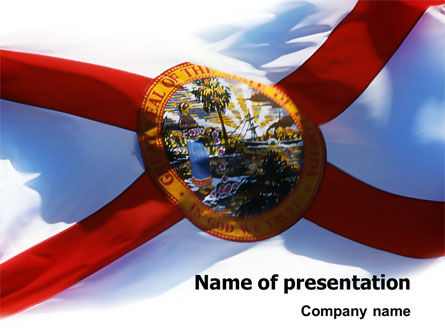 Flags/International: Plantilla de PowerPoint - bandera de la florida #02436