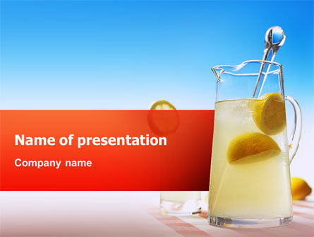 Food & Beverage: Refreshing PowerPoint Template #02437
