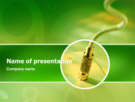 Plug PowerPoint Template, 02438, Telecommunication — PoweredTemplate.com