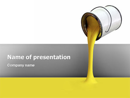Utilities/Industrial: Yellow Paint PowerPoint Template #02440