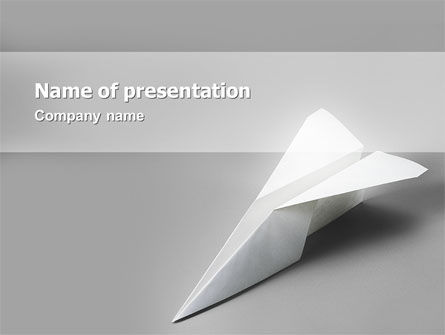 Paper Airplane PowerPoint Template, 02441, Construction — PoweredTemplate.com
