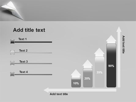 Paper Airplane PowerPoint Template Slide 8