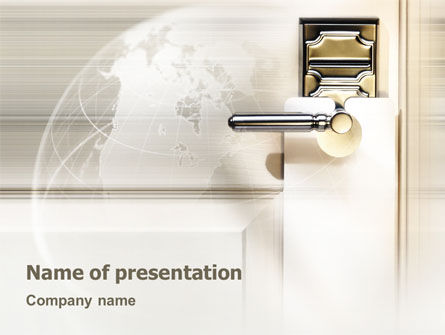Global: World Wide Hotel Network PowerPoint Template #02442