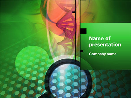 Genetic Research PowerPoint Template, 02444, Technology and Science — PoweredTemplate.com
