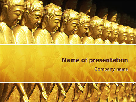 Art & Entertainment: Modelo do PowerPoint - estátuas buddha #02446