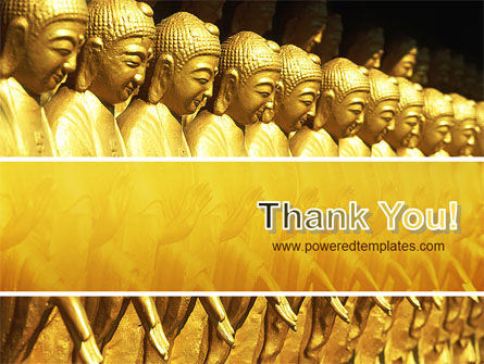 Statues of Buddha PowerPoint Template Slide 20