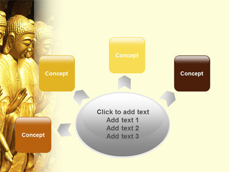 Statues of Buddha PowerPoint Template Slide 7