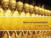 Art & Entertainment: Statues of Buddha PowerPoint Template #02446