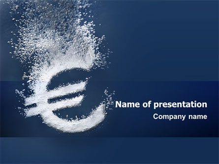 Financial/Accounting: Euro Under Water PowerPoint Template #02447