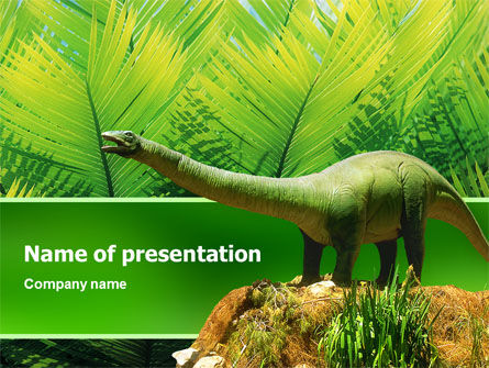 Animals and Pets: Dinosaur PowerPoint Template #02449