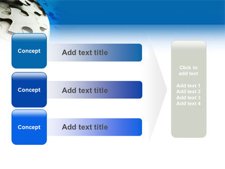 Gray Puzzle In A Blue Crescent PowerPoint Template Slide 12