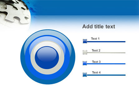Gray Puzzle In A Blue Crescent PowerPoint Template Slide 9