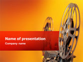 Art & Entertainment: Film Projector PowerPoint Template #02452