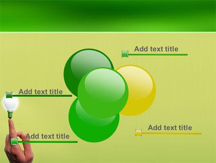 Lamp on Finger PowerPoint Template Slide 10