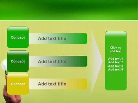 Lamp on Finger PowerPoint Template Slide 12