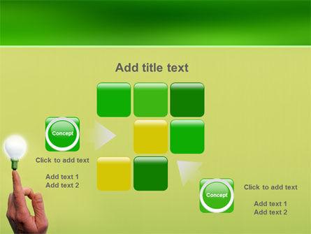 Lamp on Finger PowerPoint Template Slide 16