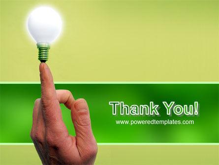 Lamp on Finger PowerPoint Template Slide 20