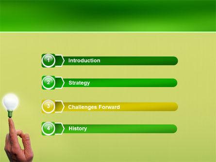 Lamp on Finger PowerPoint Template Slide 3