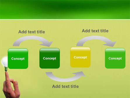 Lamp on Finger PowerPoint Template Slide 4