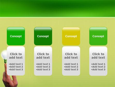 Lamp on Finger PowerPoint Template Slide 5