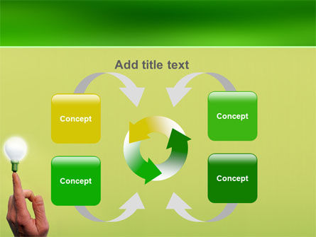 Lamp on Finger PowerPoint Template Slide 6