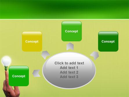 Lamp on Finger PowerPoint Template Slide 7