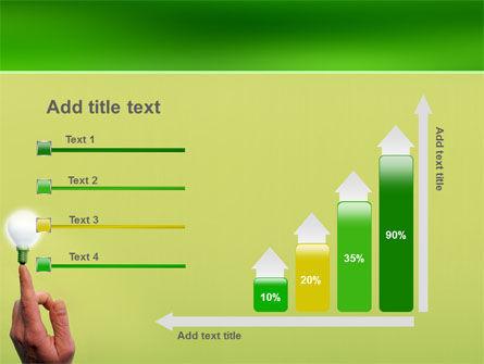 Lamp on Finger PowerPoint Template Slide 8