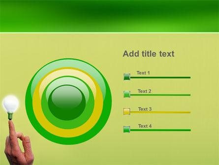 Lamp on Finger PowerPoint Template Slide 9